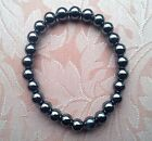 Hematite classic elasticated bracelet, no clasp. 8mm beads.Hand crafted