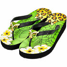 MISS TRISH LADIES DESIGNER WEDGE FLIP FLOPS - BLACK/BL - LEOPARD UK SIZES 3 - 8