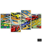 Racing Cars Boys   For Kids Room BOX FRAMED CANVAS ART Picture HDR 280gsm
