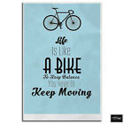 Cycling Quote  Typography BOX FRAMED CANVAS ART Picture HDR 280gsm