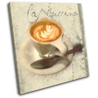 Cafe Coffee Cappuccino  Food Kitchen CANVAS WALL ART Picture Print VA