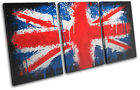 Union Jack Paint Drip  Abstract CANVAS WALL ART Picture Print VA