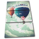 Love Vintage  Typography CANVAS WALL ART Picture Print VA