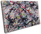 Paint Splatter   Abstract CANVAS WALL ART Picture Print VA