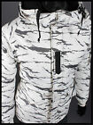 Southplay Mens Winter Waterproof  Military White Camo Ski-Snowboard Jacket BJ102