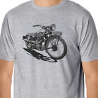 RetroArt Vintage Royal Enfield Motorcycle Inspired T-Shirt