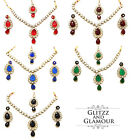 KUNDAN STONES NECKLACE EARRINGS & TIKKA SET BRIDAL WEDDING BOLLYWOOD JEWELLERY