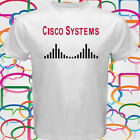 New Cisco Systems Logo Network Computer Men's White T-Shirt Size S to 3XL