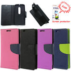 Wallet style flip cover for Motorola Moto G3 Cover + Free Screen Guard
