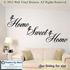 Home Sweet Home Wall Quote Sticker Wall Decals Mural Art Lounge MEDIUM1