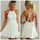 Women Sexy Sleeveless Strap Backless Party Evening Cocktail Short Mini Dress FKS