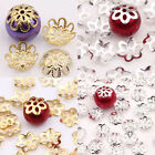 100PCS Golden/Silver Alloy Bead Caps Filigree Flower Spacer Jewellery Findings
