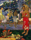 Paul Gauguin Hail Mary Canvas Print
