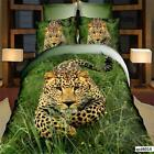 Running Leopard 3D Bedding Set 100% Cotton Poly/Cotton Animal Print