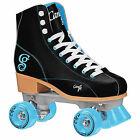 Indoor Outdoor Roller Skates - Roller Derby Black Teal Candi Girl Skate