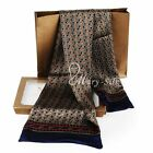 Luxurious Gift! Mens 100% Silk Long Scarf  Cravat  Scarives Double Layer
