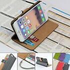 For Apple iPhone 6 6s Genuine Leather Wallet Case Card Holder Flip Cover