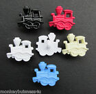 7 Novelty Buttons - Train - Baby - Dolls - Kid's - Boy's - Cards/Knitting/Sewing
