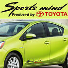 Sports mind produced by Toyota #2 Yaris Auris Prius Decals Stickers Graphics I
