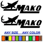 MAKO MARINE BOAT STICKER DECAL FISHING *ANY SIZE OR COLOR AV