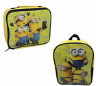 CHILDRENS MINIONS LUNCH BAG AND BACK PACKS BY MEGA BRANDS - CC
