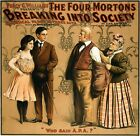 Print Percy G. Williams presents The four Mortons breaking into society a musica