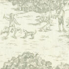 French Country Seafoam Green Toile Duvet Cover