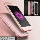 New Hybrid 360° Hard Thin Case + Tempered Glass Cover For Apple iPhone 7 6S Plus