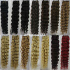 "New AAA+ 20"" Remy Curly Deep Weft Human Hair Extensions Weave 100g More Color"