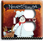 DRUNK ITALIAN FAT CHEF LIGHT SWITCH OUTLET PLATES KITCHEN DINING ROOM ART DECOR