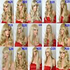 BLONDE Mix Wig Natural Long Curly Straight Wavy Synthetic Wig Women Fashion Part