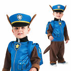 Boys Chase Fancy Dress Costume Nickelodeon Paw Patrol Cartoon Police Dog Outfit