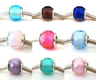 Authentic 925 Sterling Silver Geometric Faceted Fit European Bead Charm Bracelet