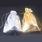 25/50pcs Wedding Party Drawstring Gift Bags Candy Pouch Jewelry Packaging 12x9cm