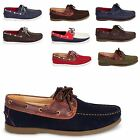 NEW MENS SYNTHETIC LEATHER SUEDE SLIP ON LACE UP MOCCASIN BOAT DECK GENTS SHOES
