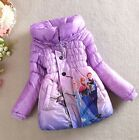 Giacca Bambina Piumino Viola - Girl Purple Winter Jacket - Frozen - A00190V
