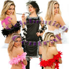 FEATHER BOA QUALITY RED WHITE PINK BLACK BLACK N WHITE PACK OF 5