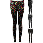 Womens Love Muti Peace Multicolour B&W Rainbow Casual Stretch Party Leggings