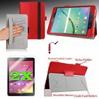 "For Samsung Galaxy Tab S2 8.0"" Slim Fit PU Leather Case Cover Stand +Accessories"