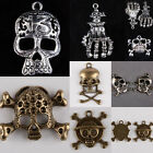 Skull Heads Skeleton Bones Pirate Palm 13 Lucky Number Freemasonry Charm Pendant