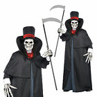 Adults Dapper Death Halloween Fancy Dress Costume Mens Grim Reaper Party Outfit