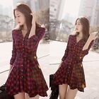 Women's Long Sleeve Short Mini Dress Summer Casual Party Cocktail Fashion FKS