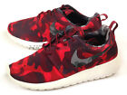 Nike Wmns Roshe One Print Camo Deep Garnet/Black-Gym Red Running 2015 599432-606