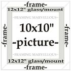 Dark Brown Wooden Photo Picture Frame with White Mount - Choose size
