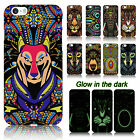 Glow in the Dark Luminous Animal Safari Zoo Aztec Tribal Print Case Cover