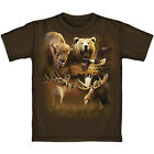 Kids American Wildlife Collage 100% Cotton Short Sleeve Tee Shirt BRAND NEW