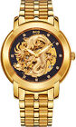 Fashion Men's Luxury gold Dragon skeleton self-wind mechanical Wrist watch