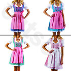 Dirndl Dress German Ethnic 3 PC Bavarian Oktoberfest Vintage Costume -All Sizes