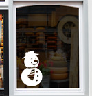 SNOWMAN Shop Store Front Window Sticker Festive Christmas Display Decal Graphic