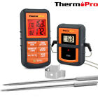 Dual Probes Digital Wireless LCD Meat Cooking Alarm Thermometer & Timer Kitchen